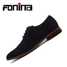 FONIRRA Mode Suede Mannen Vlakke Toevallige Schoenen Mannen Lederen Flock Dress Schoenen Luxe Lace Up Oxford Loafers Mocassins Voor Mannen 403(China)