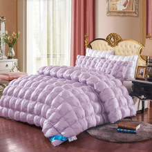 purple/Tyrant gold/white/pink color Duvet Duck/Goose Down quilted Quilt 200*230cm/220*240cm winter luxury Blankets/Comforter