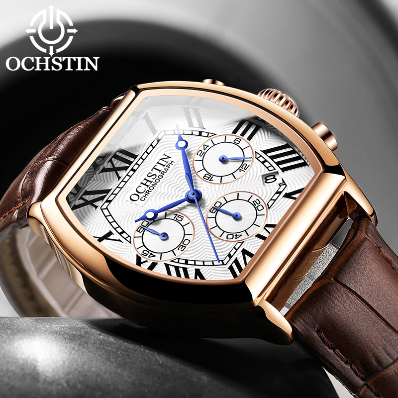 OCHSTIN New Mens Watches Top Luxury Brand Men Unique Sports Watch Men's Quartz Date Clock Wrist Watch Relogio Masculino