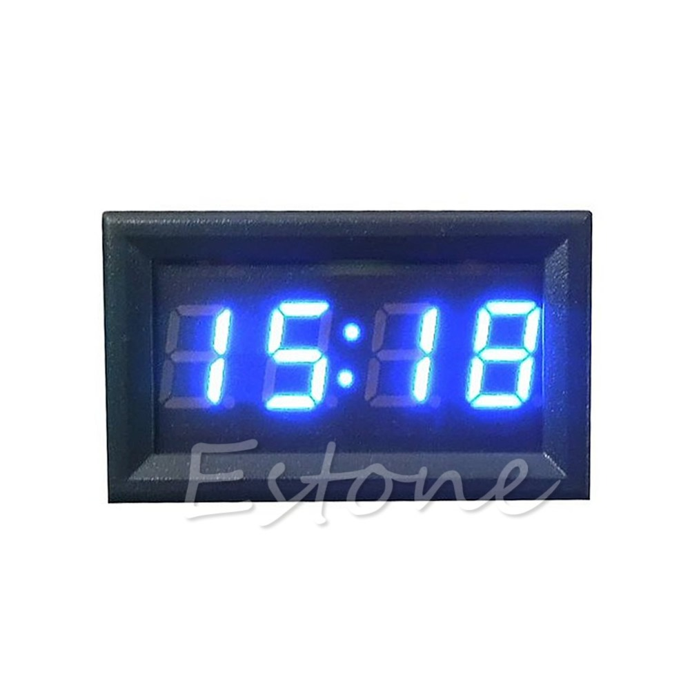 Hot Sale LED Display Digital Clock 12V/24V Dashboard Car Motorcycle Accessory 1PC Drop shipping