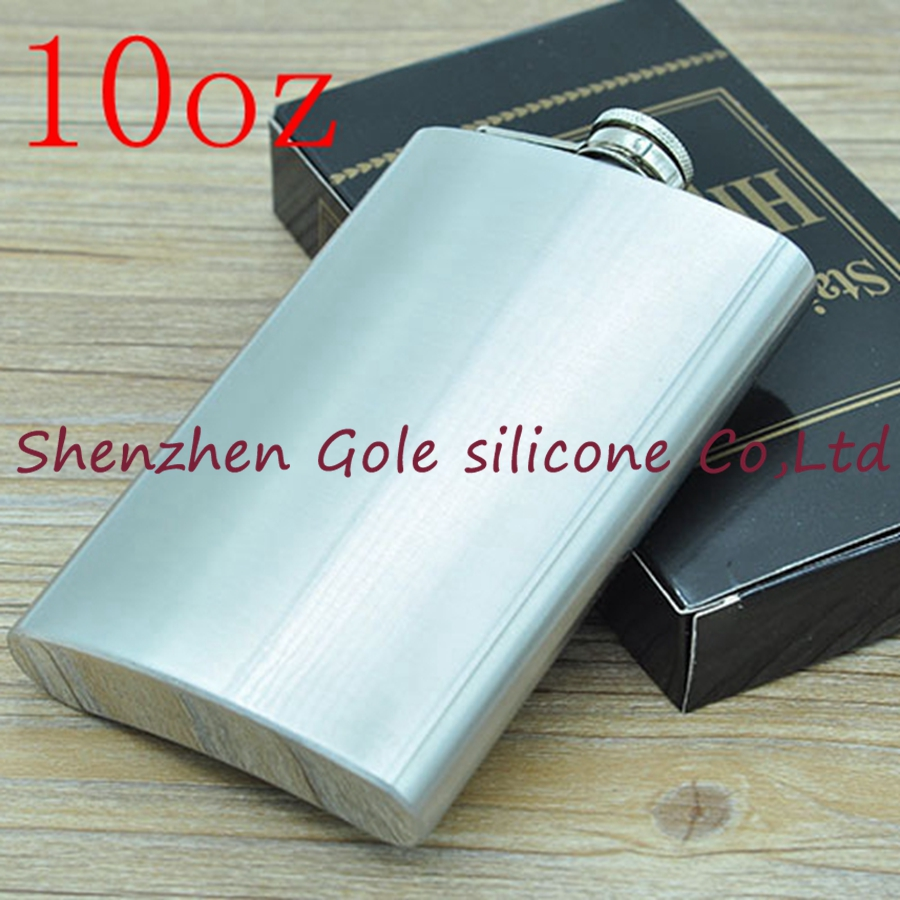 50pcs 10oz Stainless Steel Pocket Flask Russian Hip Flask Male Small Portable Mini Shot Bottles Whiskey Jug Small Gifts For Man