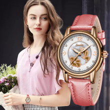 SUNKTA New Top Luxury Brand Women Watches Leisure fashion Leather Quartz Ladies Diamond Dress watch Female gift Relogio Feminino skone fashion leather diamond women watches top brand luxury clouds decorate ladies dress quartz watch relogio feminino hodinky