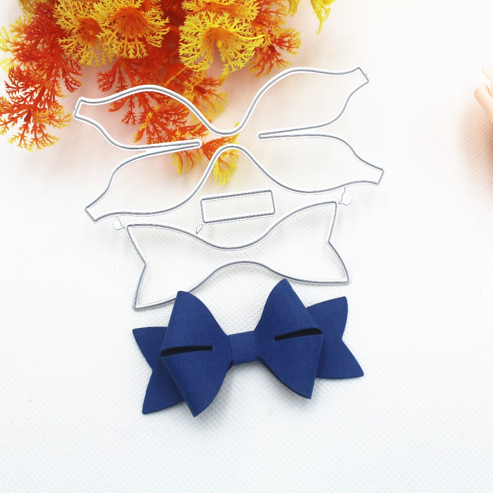 1pcs  bowknot craft dies DIY Scrapbooking Photo Album Paper Card Craft Cute Embossing Metal Cutting Dies Stencils