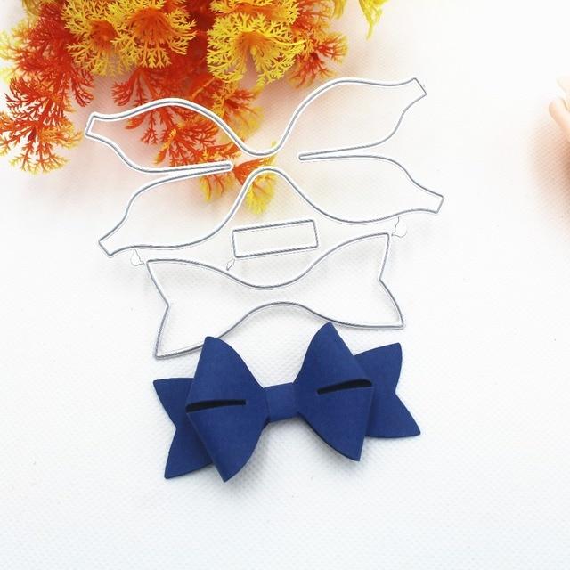 1pcs  bowknot craft dies DIY Scrapbooking Photo Album Paper Card Craft Cute Embossing Metal Cutting Dies Stencils Scrapbooking