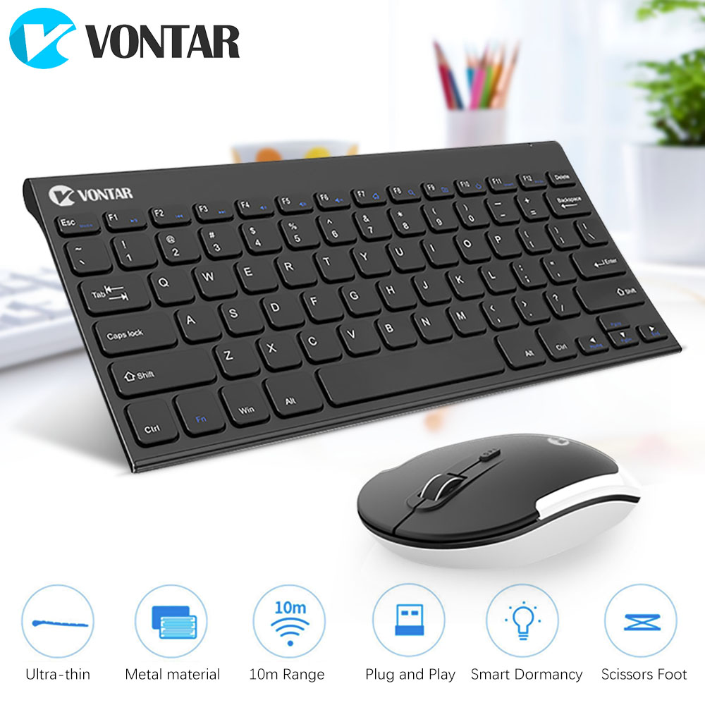 VONTAR K01&M01 2.4GHz wireless Gaming Keyboard and Mouse Ultra Thin Mute Optical Mouse Keyboard Combo for Windows PC Laptop Home freya north pip page 7 page 5