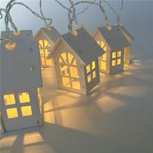 Wooden House Bird Lights10 LED Party Lights Wood Mini Birdhouse Decoration(China)