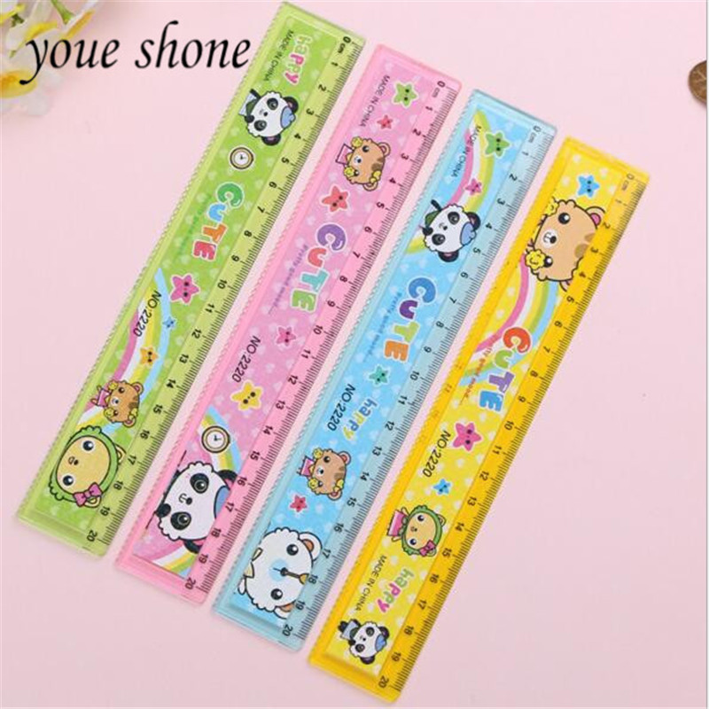 1pieces/lot Cartoon Ruler Learning Office Supplies Straight Wave Line Dual-use 20CM Ruler Student Supplies