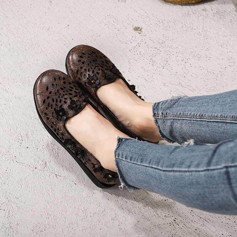 En Mujer 2019 Mocasines Las Resbalón Mujeres Cuero Zapatos Plataforma Plana Gris Nueva Vallu Planos De Genuino rIEwHEx6