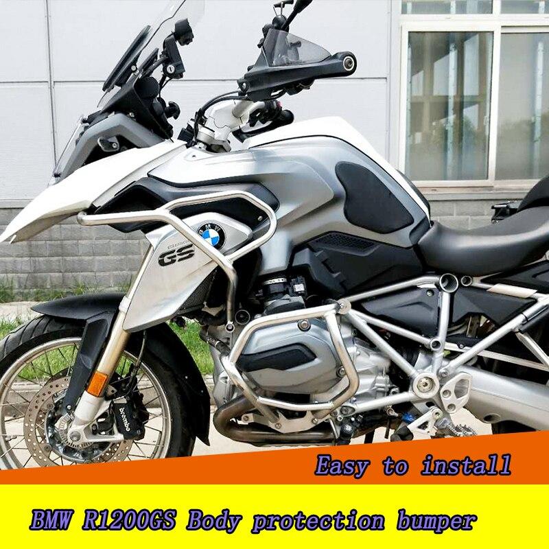 Авария бары двигателя гвардии железнодорожных двигателя забор бампер спереди сбоку протектор для BMW R1200GS бампер мотоцикл защитное снаряжен...