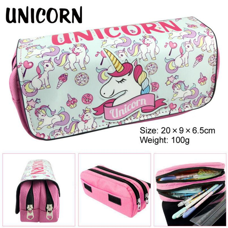 Animal Pencil Case Canvas Big Unicorn School Supplies Stationery Gift Students Cute Pencil Box Pencilcase Pencil Bag School Tool 1pc cute animal dinosaur pencil case canvas pencil bag pen box stationery school supplies multilayer gift random with lock
