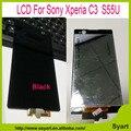 Высокое качество Нового ЖК-Дисплей Сенсорный Экран с Digitizer Полный Ассамблеи + инструменты Для Sony Xperia C3 D2533 D2502