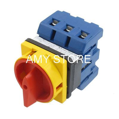 AC 600V 50Hz 63A Self Locking ON/OFF Position Cam Combination Changeover Switch
