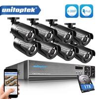 H 265 8CH CCTV Surveillance Kit 4MP Security Camera System 8CH POE NVR Max 4K Output