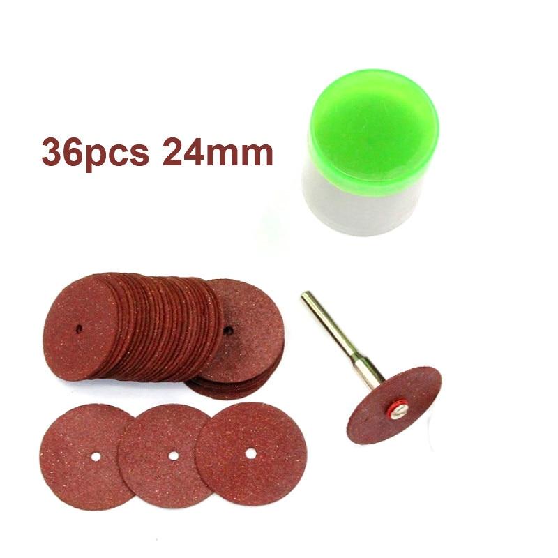 36pcs/set Universal 24mm Mini Diamond Cutting Discs Wheel Drill Bit For Rotary Jewellery Tool Kit Cut Off Wheel High Quality