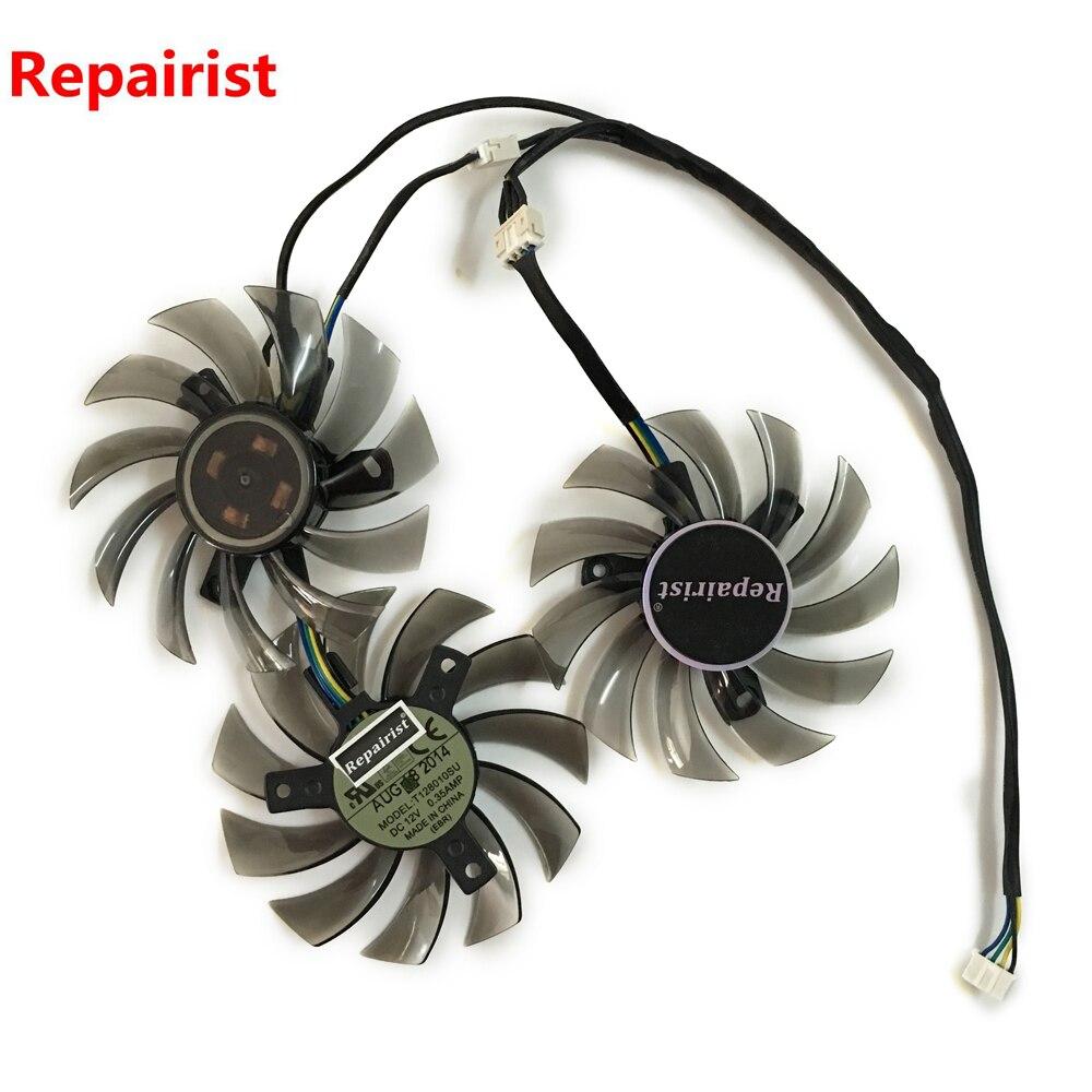 3 pcs/lot R9 290 R9290X R9 280 GPU Refroidisseur ventilateur pour GIGABYTE GV-R929WF3 GV-R929XOC GV-R928XWF3 carte vidéo de refroidissement