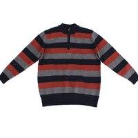 100% козья кашемир молния водолазка вязать мужчины smart casual мода полосатый толстый пуловер свитер серый 2 вида цветов S 2XL