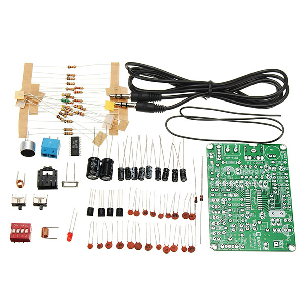 1 Set DIY FM Stereo Transmitter Module Kit Including Resistor Capacitor Cable