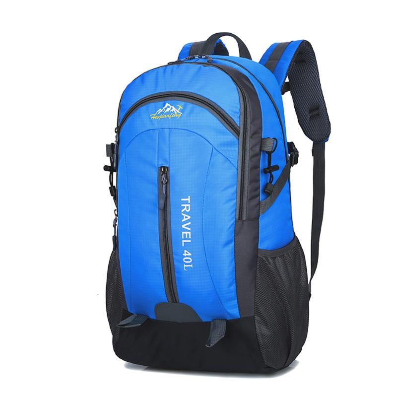 40L Internal Frame Climbing Bag Waterproof Terylene Material Unisex Travel Camping Sport Backpack for Outdoor Camping Hiking high quality 55l 10l internal frame climbing bag waterproof backpack suit for outdoor sports travel camping hinking bags