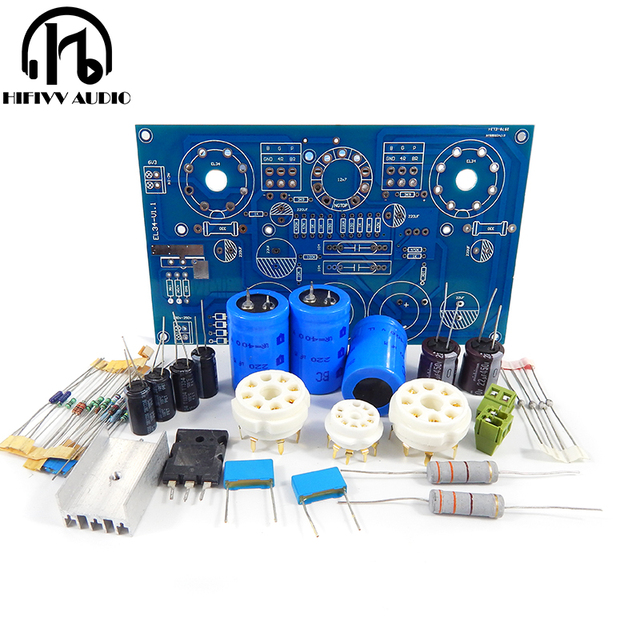 US $11 58 |HiFi audio tube amplifier EL34 kits kt88 amplifer kits ECC83  single ended Class A tube amplifier Kits 10W + 10W-in Amplifier from  Consumer