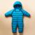 La moda de nueva 2016 Nuevo estilo infantil del bebé de invierno térmica trajes marca pluma caliente mono del bebé niñas niños ropa del desgaste de la nieve
