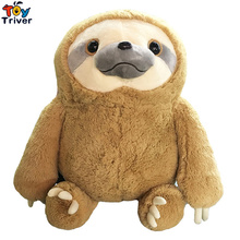 40cm/50cm Simulation Soft Plush Sloth Toy Stuffed Animal Doll Baby Children Kids Birthday Gift Home Decor Ornament Triver