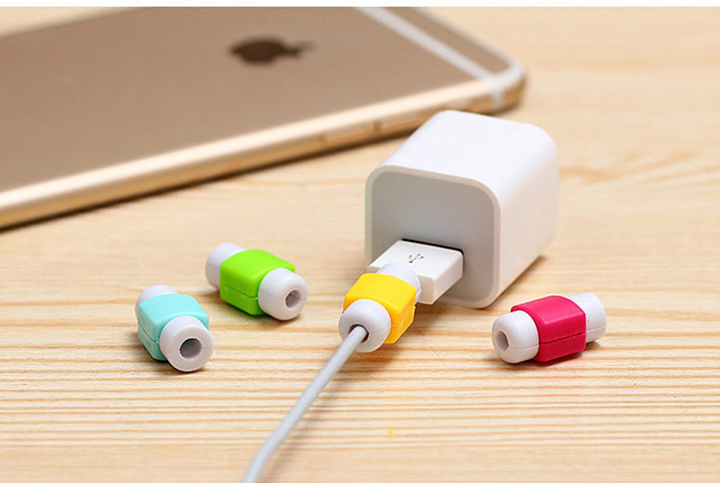1pcs Candy Color Cable Protector Data Line Cord Protector Case Cable Winder Cover For iPhone Huawei Samsung USB Charging Cable