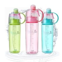Envío Gratis Botella de Agua de Plástico Deporte Ciclismo Gimnasio de Deportes Botella de Agua Botella de Spray Hidratante