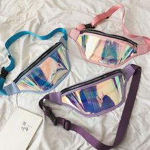 Women Holographic Fanny Pack Waist Bag Satchel PVC Laser Purse One Shoulder Chest Fashion Sport Punk Hip
