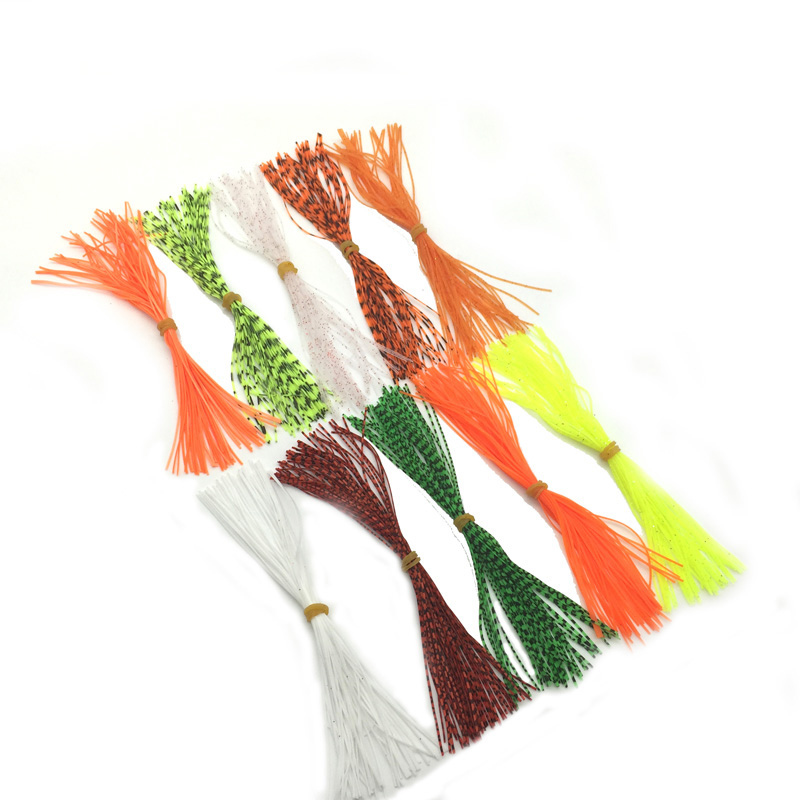 送料無料ディスカウント18バンドルシリコン脚禁止色パールフレークフライタイイング素材イカラバースレッドシリコンスカートパーツデルケーブル同軸