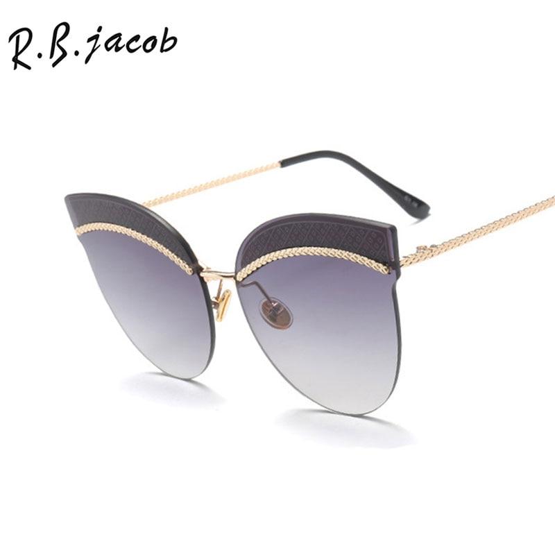 2017 Cat Eye Luxurious Women Sunglasses Hipster Charm Brand Designer High Quality Leopard Frames Lady Female Sun Glasses UV400