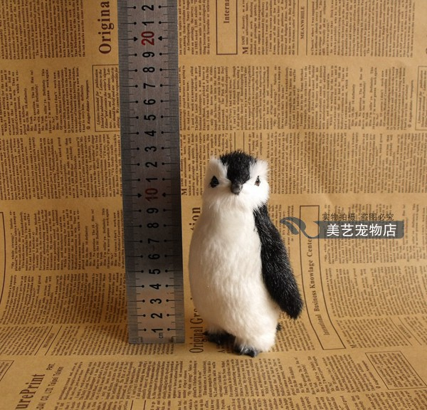 cute simulation penguin toy lifelike penguin doll gift about 13x6x8cm