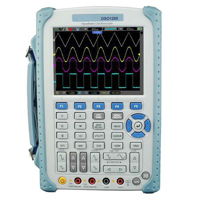 New Original Portable Handheld Digital Multimeter Oscilloscope High Precision Accuracy DSO1200 200MHz 500MSa/s 2 Channels