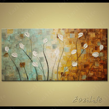 Tree Hand Painted palette knife 3D texture flower Hand Painted Canvas Oil Painting Wall Pictures For Living Room 7