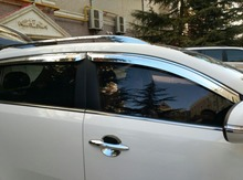 ABS Chrome plastic Window Visor Vent Shades Sun Rain Guard car accessories for KIA Optima K5 2010 2012 2013 - 2015 styling