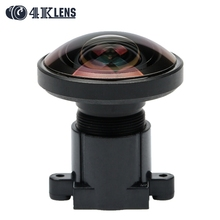 4K LENS 1.2MM Lens IR Fisheye 1/2.3 Inch 16MP S Mount 220D for 360 View Go pro Camera Virtual Reality Free Shipping Hot