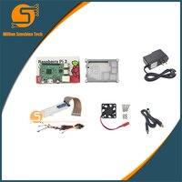 UK RS Version Raspberry Pi 3 Heat Sink Case Box Fan Power Supply GIPO Kit 1