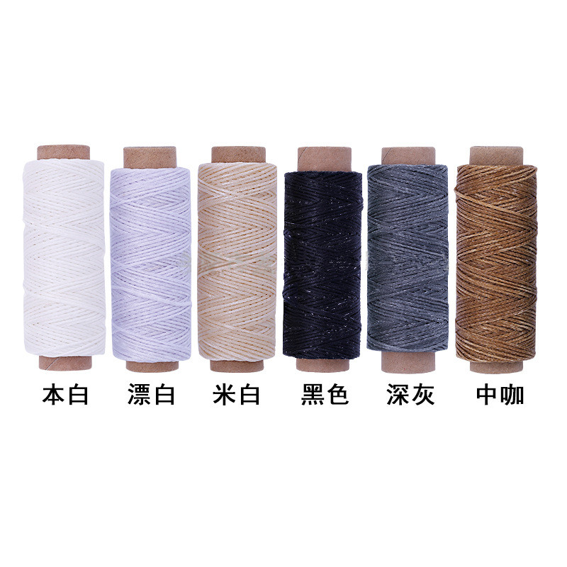 6 Rolls * 30 Meters Long Flat Waxed Thread Waxed String For Leather Sewing