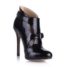 Sexy Snakeskin Party Stiletto High Heel Buckle Women Ankle Boots Bootie Stivali Caviglia Donna Bottes Cheville YJ0640CBT-R1 цена 2017