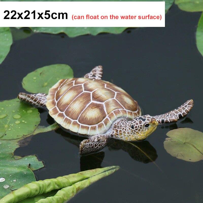 33x24x14 см Искусственный животный орнамент черепаха домашний сад бассейн пруд Смола украшения Статуя Скульптура ремесла Рождественский подарок - Цвет: D