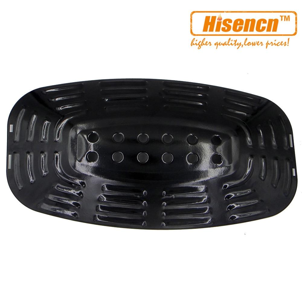 Hisencn 21.8 97331 1pcs Bbq Parts Porcelain Steel Heat Plate Shield Burner Cover
