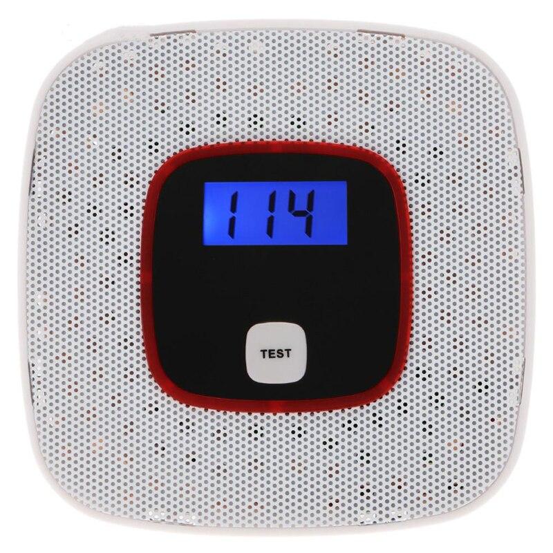 1 PCS Nouveau LCD Affichage CO Détecteur De Monoxyde De Carbone Alarme Capteur Empoisonnement Au Gaz Testeur Voix Humaine Avertissement Détecteur Pour Alarme système