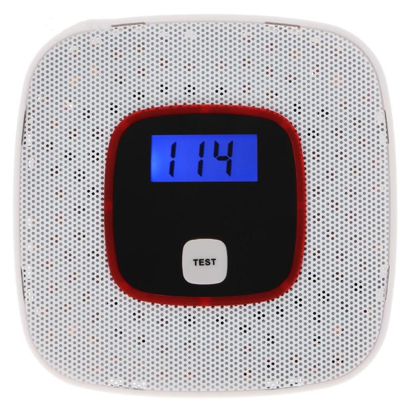 1PCS New LCD Display CO Detector Carbon Monoxide Alarm Sensor Poisoning Gas Tester Human Voice Warning Detector For Alarm System voice warning lcd co carbon monoxide tester poisoning sensor alarm detector