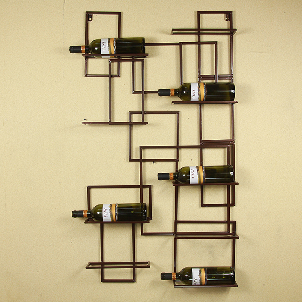 24 44 black bronze select wall mounted 9 bottle holder. Black Bedroom Furniture Sets. Home Design Ideas