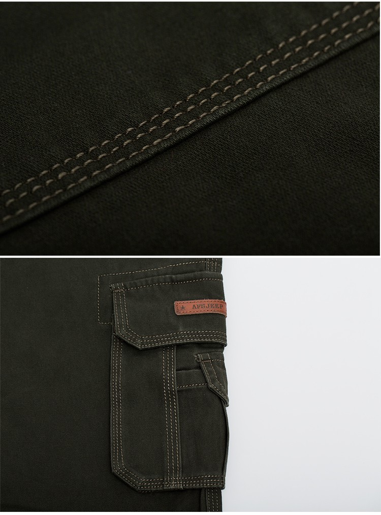 2015 Brand AFS JEEP Men New Pants Autumn Winter Cotton Cargo Casual Pants Pockets Fashion High Quality Mens Slim Pant Size 30~44 (22)