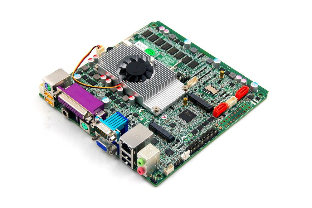 MINI ITX industrial motherboard with Onboard 2GB Ram/ Wifi Module  for POS use used original for onda h81ipc one machine mini itx mini industrial motherboard 12v msata lvds com usb3
