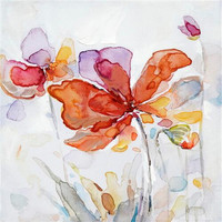 Fashion Home Decor Poster Colorful Flower Wall Art Picture Canvas Oil Painting For Living Room Watercolor