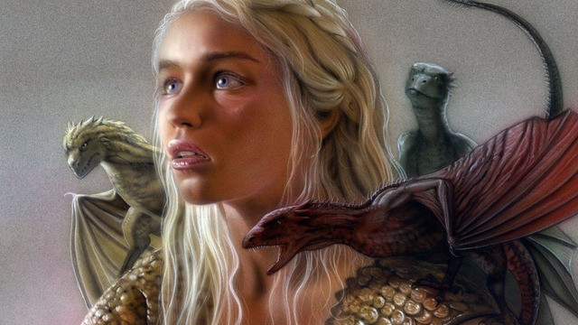 0563 Daenerys Targaryen Game Of Thrones Movie HD Wallpaper Poster Printed On Cloth Canvas 24x42 INCHES