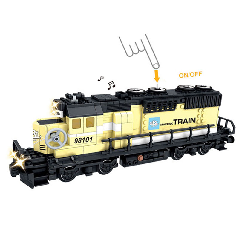 New font b Battery b font Powered Maersk Train Container Train diesel electric freight train Building