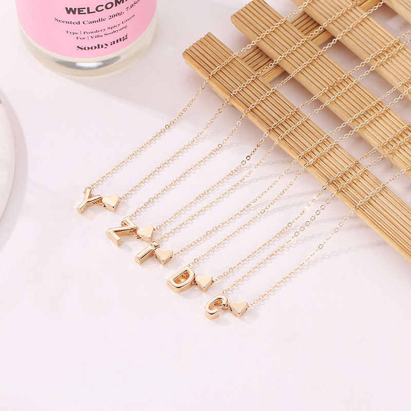 women's clothing accessories jewellery best friends letter pendant necklace women gold chain chocker choker necklace neckless