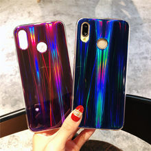 Case for Huawei Honor V9 V10 Aurora Gradient Color Shining Soft Silicone PhoneCase for Huawei Y5 Y6 Y9 2018 Laser Original Cover(China)